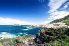 för spain tenerife för kanariefågelgarachico öar sikt town Royaltyfria Bilder