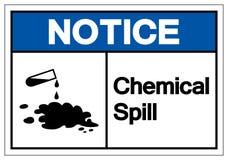 För spillsymbol för meddelande kemiskt tecken, vektorillustration, isolat på den vita bakgrundsetiketten EPS10 royaltyfri illustrationer