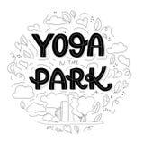 för sporttema för kobra utomhus- park skjuten yoga royaltyfri illustrationer