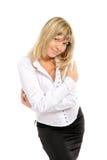 för ståendekvinna för closeup lyckligt barn Royaltyfri Fotografi