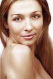 för ståendeskulder för skönhet naken kvinna royaltyfria foton