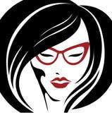 för ståendesolnedgång för exponeringsglas ljus kvinna Royaltyfria Foton