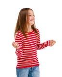 för ståendewhite för backgroun flicka isolerat barn Royaltyfri Fotografi