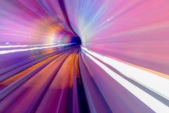 För stångabstrakt begrepp för rosa färger blå Bund Shanghai Kina för underjordisk järnväg Arkivbilder