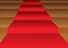 För Stairstepsvektor för röd matta illustration Arkivfoton