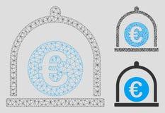 För standart 2D modell vektoringrepp för euro och mosaisk symbol för triangel vektor illustrationer