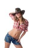 för standmage för härlig cowgirl naket barn Royaltyfria Foton