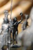 för statuettetin för druvor näck kvinna Royaltyfria Bilder