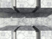 För stenvägg för abstrakt konkret arkitektur stads- bakgrund Arkivfoton