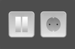 för stickkontaktströmbrytare för apparater elektriska nya teknologier Fotografering för Bildbyråer
