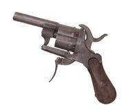 För stiftbrand för tappning isolerad liten revolver Royaltyfria Bilder