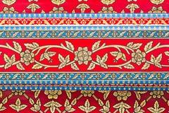 För stilkonst för tappning traditionell thailändsk målning på templet Fotografering för Bildbyråer
