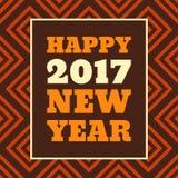 För stiltext för lyckligt nytt år 2017 Retro design Arkivbild