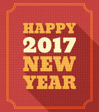 För stiltext för lyckligt nytt år 2017 Retro design Royaltyfri Foto