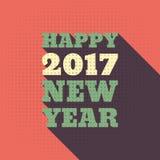 För stiltext för lyckligt nytt år 2017 Retro design Royaltyfri Bild