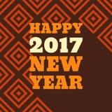 För stiltext för lyckligt nytt år 2017 Retro design Royaltyfri Fotografi