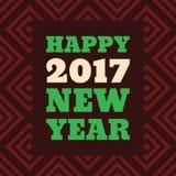 För stiltext för lyckligt nytt år 2017 Retro design Royaltyfria Foton