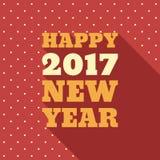 För stiltext för lyckligt nytt år 2017 Retro design Arkivfoto