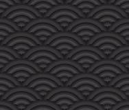 För stilvektor för svart sömlös textur asiatisk backgrou Arkivfoto