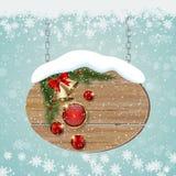 För stilvektor för jul och för nytt år retro bakgrund vektor illustrationer
