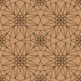 för stjärnabrunt för 8 sida modell för symmetri för färg sömlös stock illustrationer