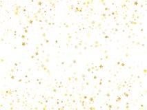För stjärnagnistrande för flyg guld- vektor med vit bakgrund royaltyfri illustrationer