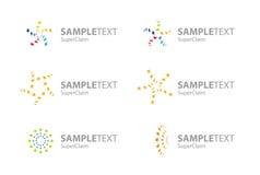 för stjärnasymboler för företags logo set vektor Royaltyfria Foton