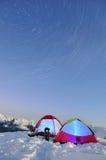 för stjärnatents för exponering långa trails Royaltyfri Fotografi