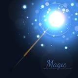 för stjärnavektor för illustration magisk wand Arkivfoton