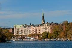 för stockholm sweden för gamla gammal stan sikt town Arkivbilder