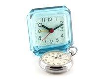för stopptabell för klocka gammal watch Arkivbilder