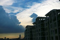 För storm i guangzhou royaltyfria foton