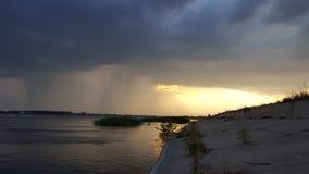 För storm sjön Royaltyfria Foton