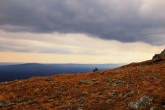 För stormen i bergen Ryssland Royaltyfria Foton