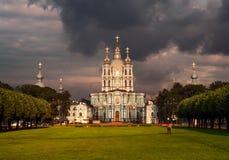 För stormen i St Petersburg arkivfoton