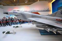 För strålkämpe för kines j-10 (f-10) modell Royaltyfria Foton