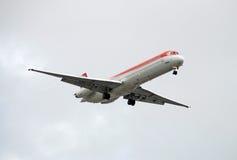 för strålpassagerare för flygplan främre sikt Royaltyfria Foton
