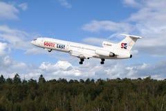 för stråltu för 154 flygplan tupolev Arkivbild