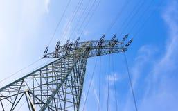 för strömtillförsel för konstruktion elektriskt industriellt arbete Arkivfoton