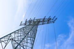 för strömtillförsel för konstruktion elektriskt industriellt arbete Royaltyfria Foton