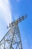 för strömtillförsel för konstruktion elektriskt industriellt arbete Royaltyfri Foto