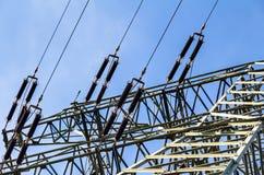 för strömtillförsel för konstruktion elektriskt industriellt arbete Arkivbild