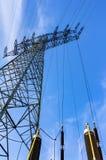 för strömtillförsel för konstruktion elektriskt industriellt arbete Fotografering för Bildbyråer