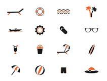 För strand symboler enkelt Royaltyfri Fotografi