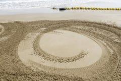 för strandbil för bakgrund 4wd spår för sand Royaltyfria Bilder