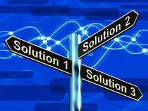 För strategialternativ för lösning 1 2 eller 3 primaa visande beslut 3d I royaltyfri illustrationer