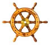 För styrningfår för gammal tappning trähjul Royaltyfri Foto