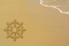 för styrningstrans Sandpapprar bakgrund Välkommet baner Arkivfoto