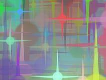 För suddighetsbokeh för stjärna färgrik bakgrund för abstrakt begrepp Arkivfoto