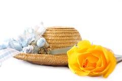 för sugrörw för hatt rose yellow Arkivfoto